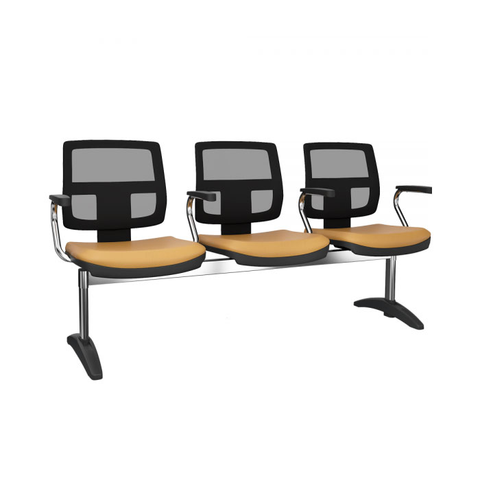 Cadeira Longarina Brizza Tela Executiva